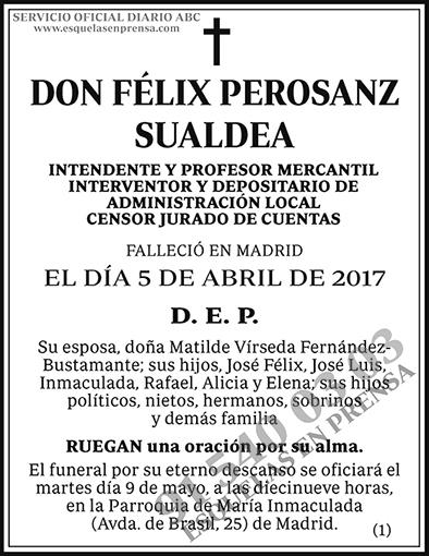Félix Perosanz Sualdea
